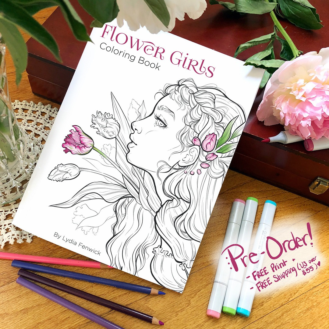 """Flower Girls"""" Coloring Book Pre"""