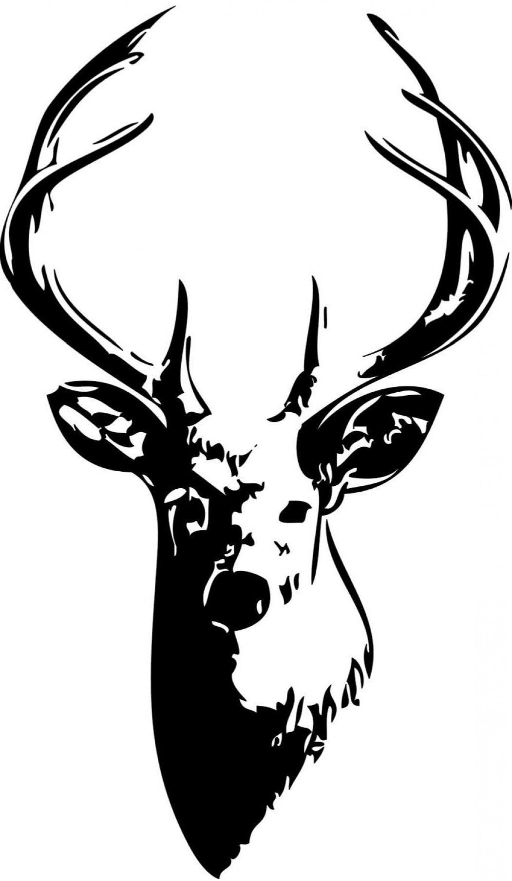 Unique Whitetail Deer Silhouette Clip Art Vector Library