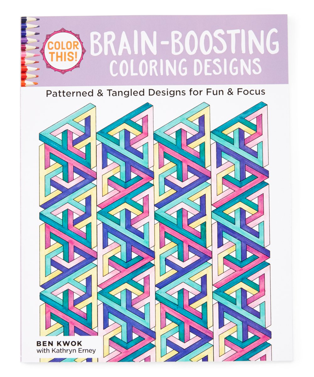 Fox Chapel Publishing Color This! Brain Boosting Coloring Book